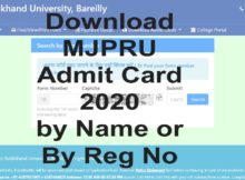 Download mjpru admit card 2020 by name or by reg no. You can download admit card @mjpru.ac.in. Download mjpru exam date scheme 2020 Ba, Bsc, Bcom, Ma, Msc, Mcom