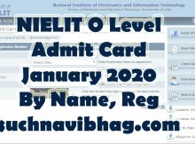 nielit o level admit card january 2020 download by name