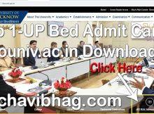 Download UP Bed Admit Card 2020 Lucknow University lkouniv.ac.in